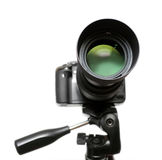 DSLR camera on tripod Royalty Free Stock Image