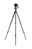 Dslr camera on tripod Stock Photography