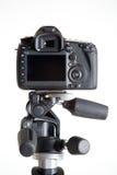 Dslr camera on tripod Stock Images