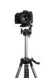 DSLR camera on tripod Stock Photography