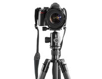 Dslr camera on a tripod Royalty Free Stock Images