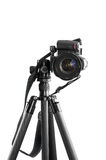 Dslr camera on a tripod Stock Photography