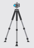 DSLR Camera on Tripod Vector Illustration Stock Image