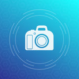 DSLR camera vector icon Stock Photos