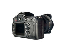 DSLR camera on white Stock Photography