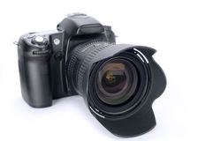 DSLR Camera. On white background royalty free stock image
