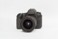 DSLR camera on a white background Stock Photography