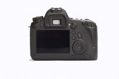 DSLR camera on a white background.  Stock Photos