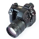 DSLR Camera. On white background Royalty Free Stock Photos