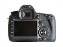 Dslr camera. On white background royalty free stock photos