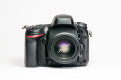Dslr camera. On a white background stock images