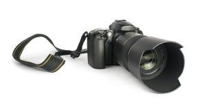 DSLR camera white  Stock Photo