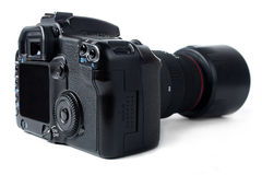 Dslr camera with zoom lens Stock Photo