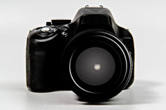 DSLR Camera with zoom lens Stock Image