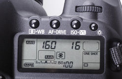 DSLR cameraclose-up. royalty-vrije stock foto