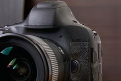 DSLR-cameradetail Royalty-vrije Stock Foto's