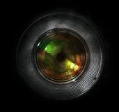 DSLR-cameralens, vooraanzicht Stock Foto