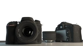 DSLR cameras with lens Stock Images