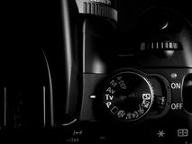 DSLR Controls. DSLR Camera showing upper control system stock image