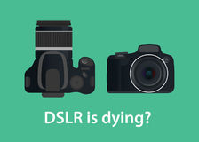 Dslr digital camera is dying or die because of the technology Royalty Free Stock Photo