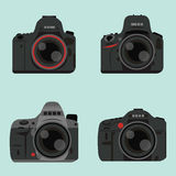 DSLR digital camera. Icon design Royalty Free Stock Photography