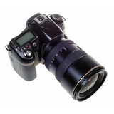 DSLR digital single lens reflex camera isolated Stock Image