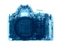 DSLR-fotocamera onder de Röntgenstralen Stock Afbeeldingen