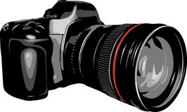 DSLR Kamera. Lizenzfreie Stockfotos