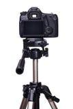 Dslr-Kamera auf Stativ Lizenzfreies Stockbild