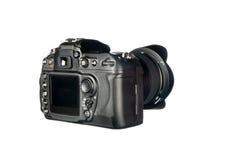 DSLR Kamera auf Weiß Stockfotografie
