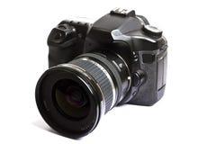 Dslr Kamera getrennt auf Weiß Stockfotografie