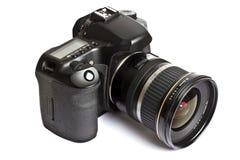 DSLR Kamera getrennt auf Weiß Lizenzfreie Stockbilder