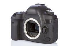 DSLR-kamera på vit Royaltyfria Bilder