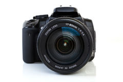 DSLR Kamera - Vorderansicht Lizenzfreies Stockbild