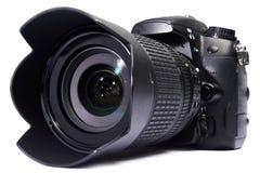 DSLR kamery biel odizolowywający obrazy stock