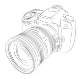 DSLR with lens