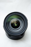 DSLR Lens. Front view of a fast lens Stock Photo