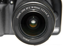 Dslr lens close up Stock Image