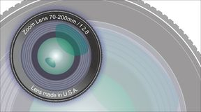 Dslr lens - Front view - Artwork Stock Photography
