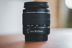 DSLR Lens 18-55mm stock images