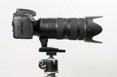 DSLR with long lens Stock Image