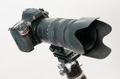 DSLR with long lens Stock Photography