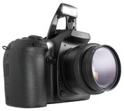 DSLR noir Photographie stock