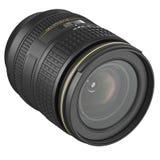 DSLR optical objective camera lens. Optic objective DSLR lens for camera. 3D graphic Stock Images