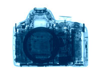 DSLR photo camera under the X-rays Stock Images