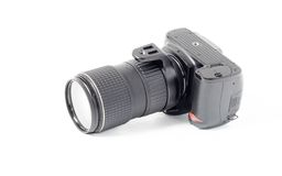 Dslr photocamera stock image
