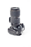 Dslr photocamera isolated Royalty Free Stock Images