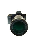 DSLR with a telephoto lens Royalty Free Stock Photos
