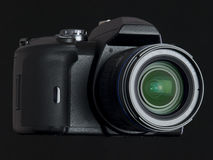 DSLR Three Quarter Front View Royalty Free Stock Image