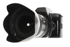 DSLR with a wideangle lens Stock Images